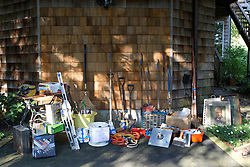 items for sale at a yard sale