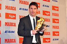 OCT 29 2012 Lionel Messi Golden Boot Award