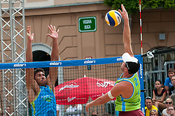 Michael Murauer vs Pablo Bianchi Nasi at Beach Volleyball Challenge Ljubljana 2014, on August 2, 2014 in Kongresni trg, Ljubljana, Slovenia. Photo by Matic Klansek Velej / Sportida.com