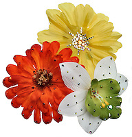flower pins with jewels
