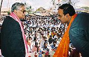 NORTH KARNATAKA,2000.<br /> Murali Manohar Joshi, the Minister for Human Resource Development during an election campaign.