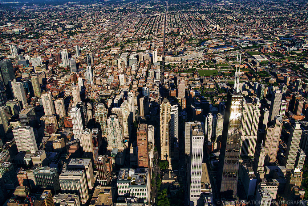 Downtown Chicago featuring John Hancock Center