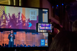 We Day 2015, Seattle, Washington. Free the Chldren event which inspires youth activism and volunteering.