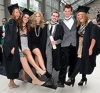Tríona Ní Dhuibhir  Rachel Browne,  Katie McMeekin, Joseph Nestor, Peter O Reilly and Lousie O Meara who all received a BA in Physcology from NUI Galway Photo:Andrew Downes.