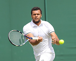 WIMBLEDON - UK - 28th June 2016: The Wimbledon Tennis Championships Day-2  at the All England Lawn Tennis Club, Wimbledon. S.E. London.<br /> <br /> Pic shows. Jo-Wilfried TSONGA ( France)<br /> Photo by Ian Jones