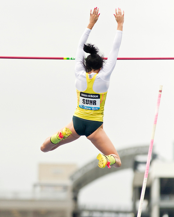 adidas Grand Prix Diamond League professional track & field meet: womens pole vault, Jenn Suhr, USA