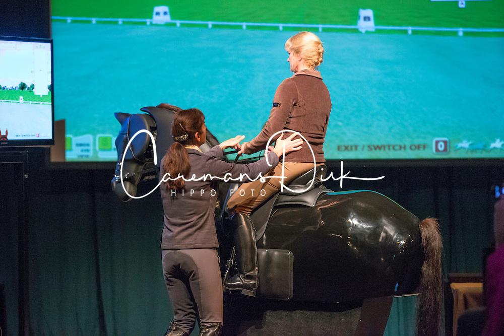 Barbro Ask Upmark dressage simulator<br /> Global Dressage Forum - Academy Bartels <br /> Hooge Mierde 2012<br /> &copy; Dirk Caremans