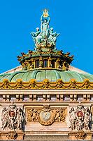 opera Garnier rooftop in the city of Paris in france