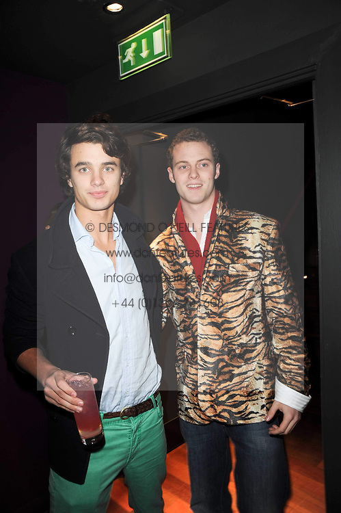 Left to right, ALEXANDER CLARK and MICHAEL ROBINSON at the Tatler Little Black Book Party held at Chinawhite, 4 Winsley Street, London on 20th November 2009.
