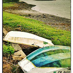 "Skiffs on the shore, New Castle, New Hampshire. iPhone photo - suitable for print reproduction up to 8"" x 12""."