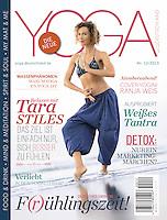 Yoga Deutschland Magazine Cover. <br /> Yogini Ranja Weis in Goa
