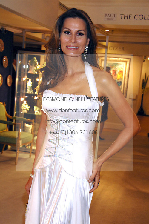 Fashion designer ISABEL KRISTENSEN at the Grosvenor House Art & Antiques Fair Gala evening in aid of the UK