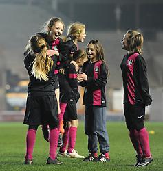 West Town Lane girls celebrate - Photo mandatory by-line: Dougie Allward/JMP - Mobile: 07966 386802 - 19/03/2015 - SPORT - Football - Bristol - Ashton Gate - Bristol Sport Schools Cup