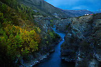 Richard Furhoff 100101_NewZealand_DSC4251.tif .Evening Dusk, Kawarou Gorge, New Zealand...