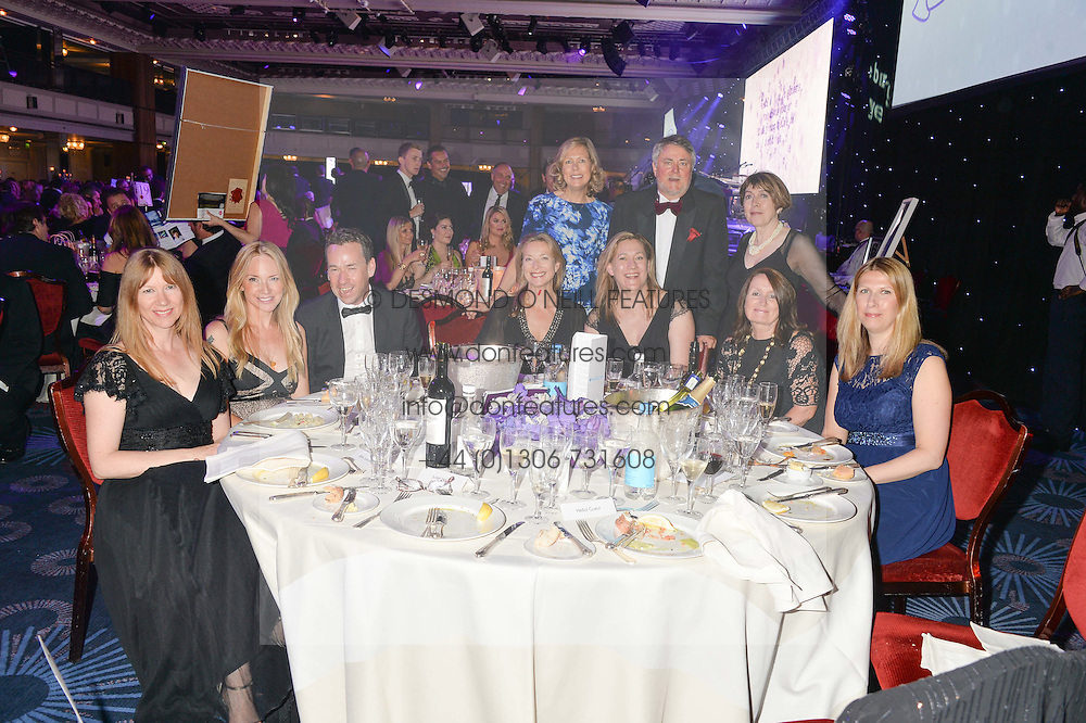 Hello! table at The Butterfly Ball in aid of Caudwell Children held at the Grosvenor House, Park Lane, London on 25th June 2015