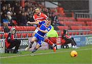 David Fox, Jamie Allen during the Sky Bet League 1 match between Crewe Alexandra and Rochdale at Alexandra Stadium, Crewe, England on 6 February 2016. Photo by Daniel Youngs.