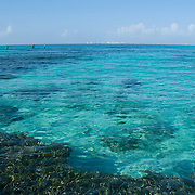 View of Cancun from South shore. Isla Mujeres, Quintana Roo. Mexico.