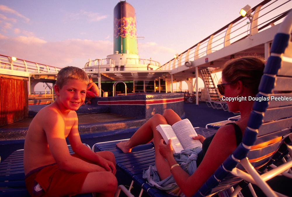 On cruiseboat, Hawaii<br />