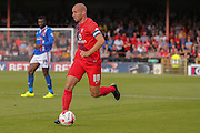 York City midfielder Russell Penn during the Sky Bet League 2 match between York City and Carlisle United at Bootham Crescent, York, England on 19 September 2015. Photo by Simon Davies.