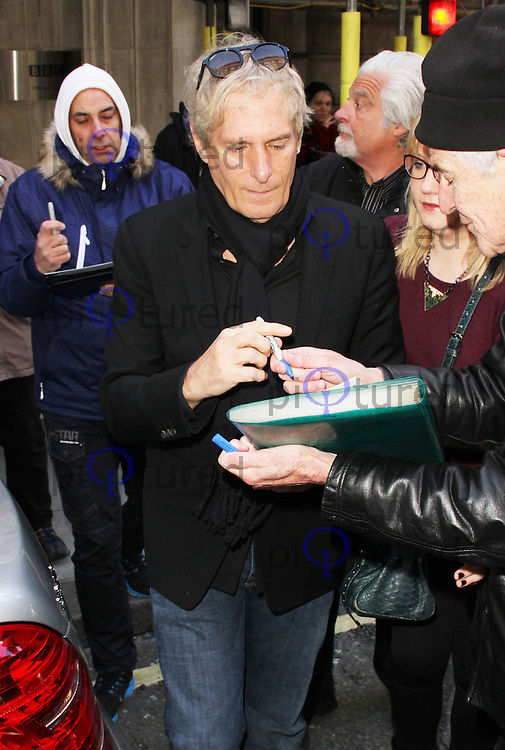 Michael Bolton leaving BBC Radio 2 Studios after appearance on Graham Norton show, London UK, 01 February 2014, Photo by Brett D. Cove