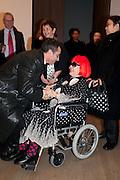 YAHOI KUSAMA;, Yayoi Kusama opening. Tate Modern. London. 7 February 2012