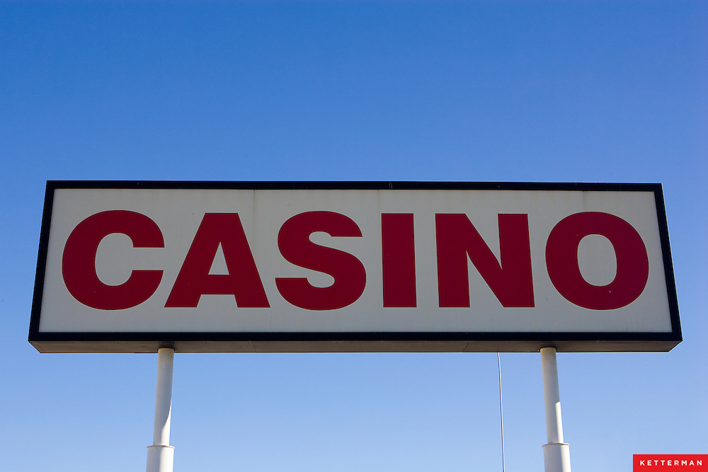 A casino sign at a rest stop along I-15 in Nevada.  It seems that everyone in the state is trying to capitalize on gambling.