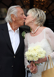 Wedding of Michael Winner and Geraldine Lynton-Edwards at Chelsea Registry Office in London, Monday , 19th September 2011. Photo by: Stephen Lock / i-Images