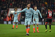 Chelsea Forward, Eden Hazard (10) points the way during the Premier League match between Bournemouth and Chelsea at the Vitality Stadium, Bournemouth, England on 30 January 2019.
