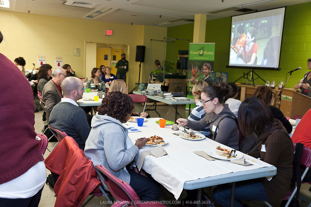 FoodShare's Growing a Greener Future from Field to Table conference. A two day province-wide conference about school food gardens, local food procurement and climate change.