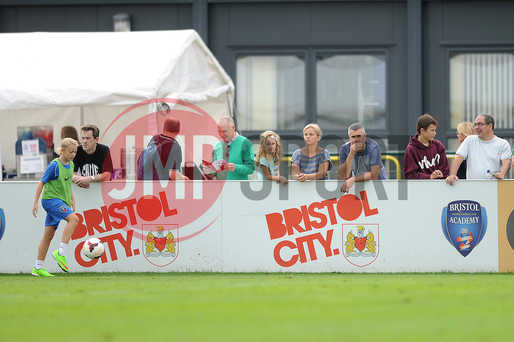 fans at bawfc - Photo mandatory by-line: Dougie Allward/JMP - Mobile: 07966 386802 - 28/09/2014 - SPORT - Women's Football - Bristol - SGS Wise Campus - Bristol Academy Women's v Manchester City Women's - Women's Super League