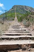The Koko Crater Trail train tracks.