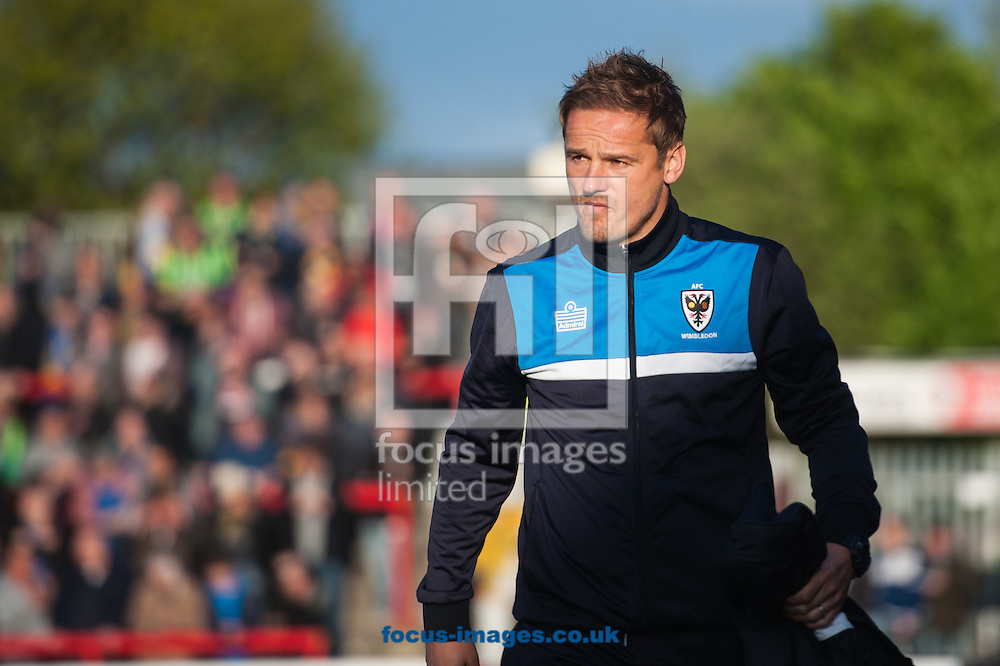 AFC Wimbledon manager Neal Ardley prior to the Sky Bet League 2 Playoff Semi-final Leg Two at the Fraser Eagle Stadium, Accrington<br /> Picture by Matt Wilkinson/Focus Images Ltd 07814 960751<br /> 18/05/2016