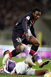 Stephane Sessegnon attacks. Toulouse v Paris St Germain,French Ligue 1, Stade Municipal, Toulouse, France, 22nd March 2009.