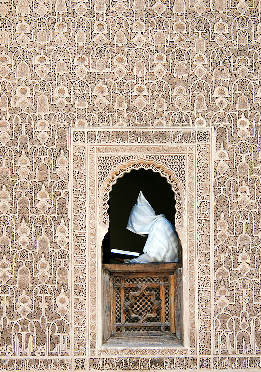 Study of the Koran in a Medersa, Marrakesh,Morocco