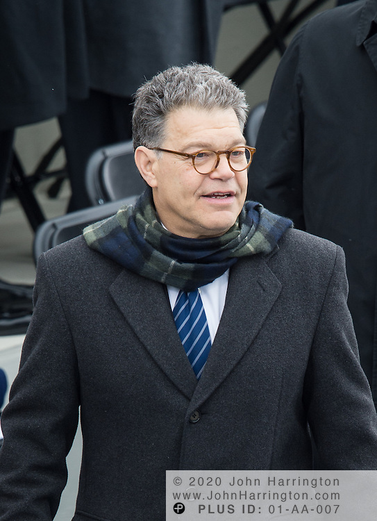 Sen. Al Franken arrives at the 57th Presidential Inauguration of President Barack Obama at the U.S. Capitol Building in Washington, DC January 21, 2013.