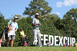 September 21, 2018 - Atlanta, Georgia, United States - Tiger Woods walks off the 12th hole with his caddie Joe LaCava (L) during the second round of the 2018 TOUR Championship. (Credit Image: © Debby Wong/ZUMA Wire)