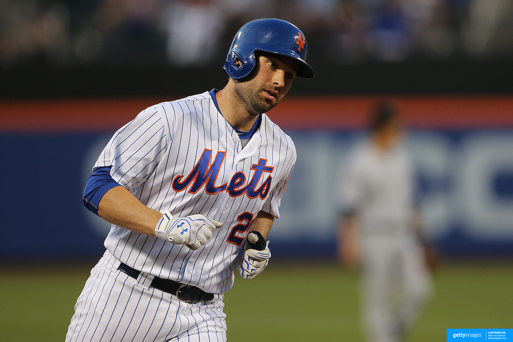 NEW YORK, NEW YORK - May 31:  Neil Walker #20 of the New York Mets rounds the bases after his two run homer in the third inning during the Chicago White Sox  Vs New York Mets regular season MLB game at Citi Field on May 31, 2016 in New York City. (Photo by Tim Clayton/Corbis via Getty Images)