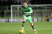 Forest Green Rovers Charlie Cooper(15) runs forward during the EFL Sky Bet League 2 match between Forest Green Rovers and Luton Town at the New Lawn, Forest Green, United Kingdom on 16 December 2017. Photo by Shane Healey.