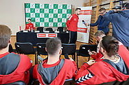 Sopot, Poland - 2018 April 05: Michal Przysiezny from Poland answers while press conference two days before Poland v Zimbabwe Tie Group 2, Europe/Africa Second Round of Davis Cup by BNP Paribas at 100 years of Sopot Hall on April 05, 2018 in Sopot, Poland.<br /> <br /> Mandatory credit:<br /> Photo by © Adam Nurkiewicz / Mediasport<br /> <br /> Adam Nurkiewicz declares that he has no rights to the image of people at the photographs of his authorship.<br /> <br /> Picture also available in RAW (NEF) or TIFF format on special request.<br /> <br /> Any editorial, commercial or promotional use requires written permission from the author of image.