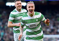 01/02/15 SCOTTISH LEAGUE CUP SEMI-FINAL<br /> CELTIC v RANGERS<br /> HAMPDEN - GLASGOW<br /> Leigh Griffiths celebrates opening the scoring against Rangers in the Scottish League Cup Semi-Final.