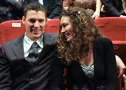 Vasilij Zbogar and his girlfriend Maja Bedalov at  Slovenian sportsman of the year 2008 ceremony, on December 22, 2008, in Cankarjev dom, Ljubljana, Slovenia. (Photo by Vid Ponikvar / SportIda).