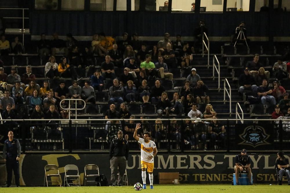 October 6, 2017 - Johnson City, Tennessee - Summers-Taylor Stadium: ETSU forward Bruno Andrade (11)<br /> <br /> Image Credit: Dakota Hamilton/ETSU