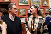 PETER YORK; ANNABEL FREYBERG, Party to celebrate the publication of Animal Magic by Andrew Barrow. Tite St. London. 28 February 2011.  -DO NOT ARCHIVE-© Copyright Photograph by Dafydd Jones. 248 Clapham Rd. London SW9 0PZ. Tel 0207 820 0771. www.dafjones.com.