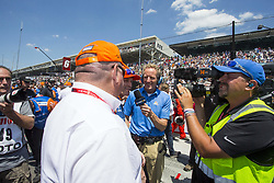 May 25, 2018 - Indianapolis, Indiana, United States of America - SCOTT DIXON (9) of New Zealand and crew in the pit stop competition on Carb Day prior to the Indianapolis 500 at the Indianapolis Motor Speedway in Indianapolis, Indiana. (Credit Image: © Justin R. Noe Asp Inc/ASP via ZUMA Wire)