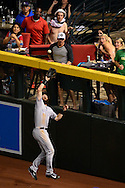 PHOENIX, AZ - APRIL 30:  Charlie Blackmon #19 of the Colorado Rockies catches a fly ball hit by Yasmany Tomas #24 of the Arizona Diamondbacks (not pictured) in the fouth inning at Chase Field on April 30, 2016 in Phoenix, Arizona.  (Photo by Jennifer Stewart/Getty Images)