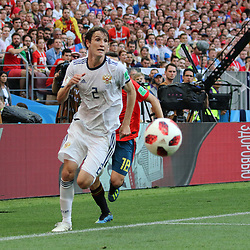 July 1, 2018 - Moscow, Russia - July 01, 2018, Russia, Moscow, FIFA World Cup 2018, the playoff round. Football match Spain - Russia at the stadium Luzhniki. Player of the national team Mario Fernandez. (Credit Image: © Russian Look via ZUMA Wire)