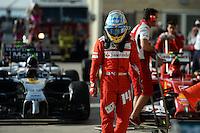 Fernando Alonso (ESP) Ferrari in parc ferme.<br /> United States Grand Prix, Sunday 2nd November 2014. Circuit of the Americas, Austin, Texas, USA.