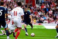 Photo: Alan Crowhurst.<br />Southampton v Lazio. Pre Season Friendly. 28/07/2007. Lazio's Goran Pandev (C) opes the scoring 0-1.