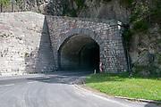 Traffic tunnel on the B180 near Prutz, Tyrol, Austria