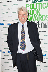 © Licensed to London News Pictures. 19/03/2014, UK. Stanley Johnson, Political Book Awards, BFI IMAX, London UK, 19 March 2014. Photo credit : Richard Goldschmidt/Piqtured/LNP